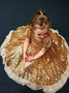 Sparkle Lace Princess - Gold