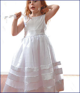 Satin Ribbon Dress   size 2-6