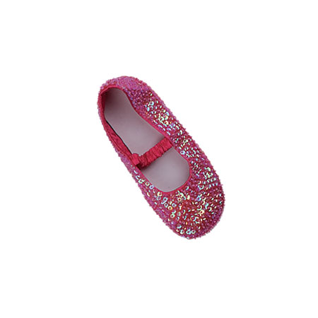 Sequin Shoes - Cerise